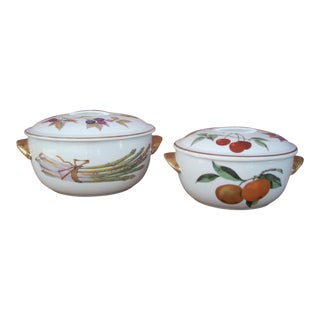 Traditional Royal Worcester Vegetable Set - A Pair