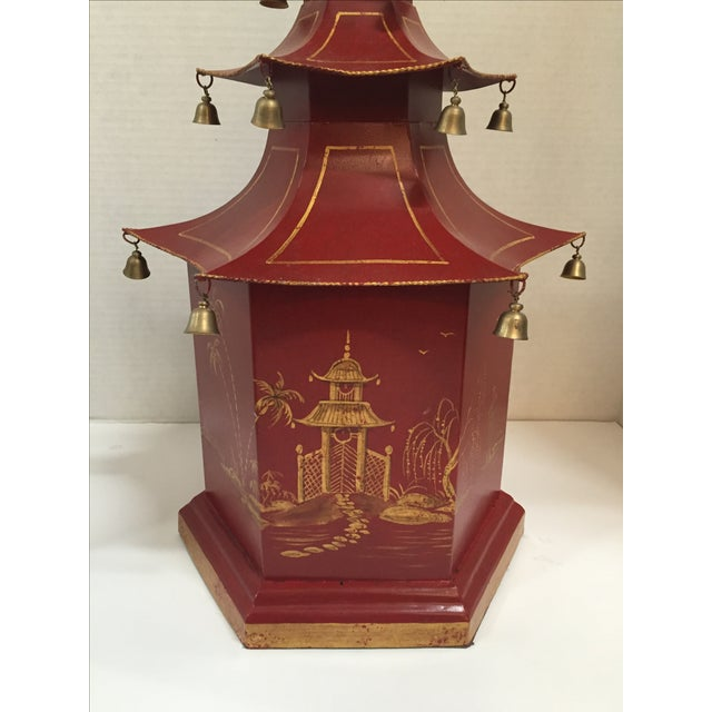 Chinoiserie Pagoda Table Lamp - Image 5 of 8