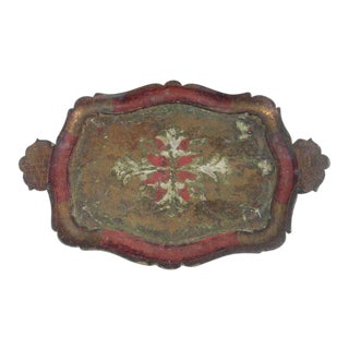 Florentine Italian Pressed Wood Tray
