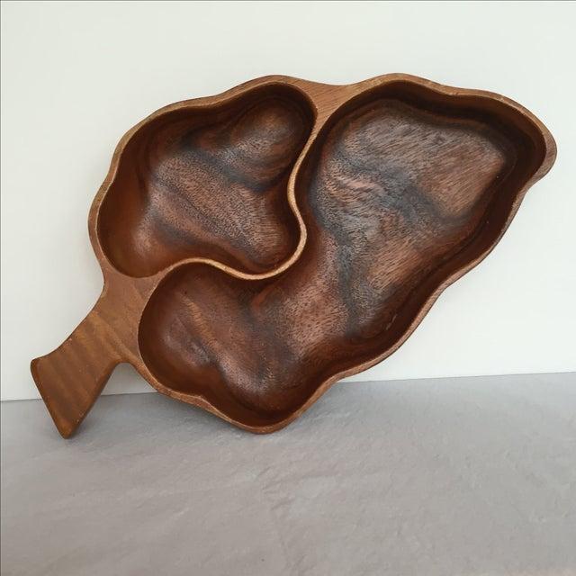 Wood Leaf Chip & Dip Bowl - Image 4 of 11