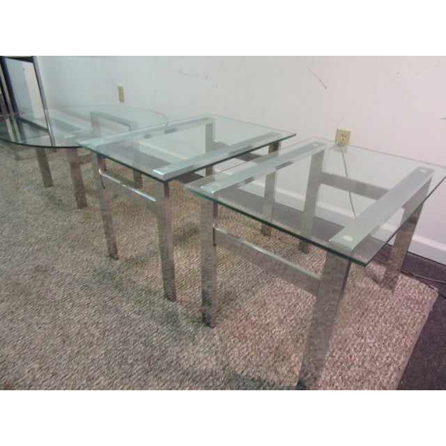 Milo Baughman Chrome Side Tables - A Pair - Image 4 of 11