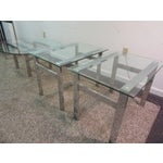 Image of Milo Baughman Chrome Side Tables - A Pair