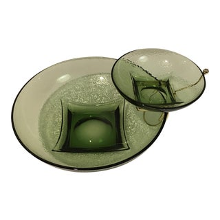 Vintage Hazelware Pebblestone Chip & Dip Bowl