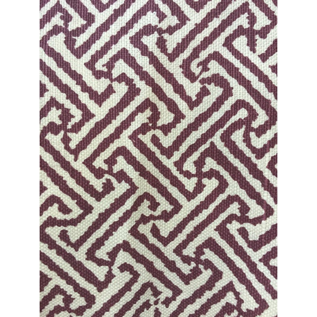 Vintage Saber Leg Upholstered Ottomans - a Pair - Image 11 of 11
