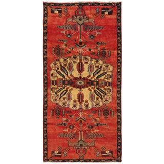 """Vintage Hamadan Wool Area Rug - 3'11"""" X 8'6"""""""