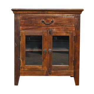 Reclaimed Storage Cabinet Table