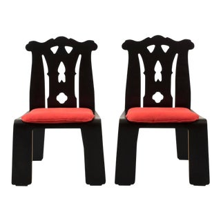 Pair of Robert Venturi Chippendale Chairs for Knoll
