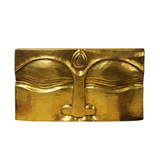 Buddha's Eye Of Wisdom Gold Wood Craving Wall Decor