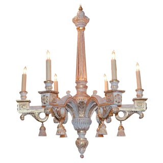 French Louis XVI Parcel Gilt Chandelier