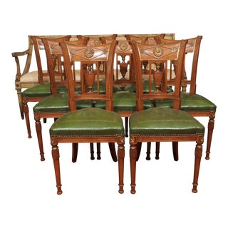 Eight Directoire Style Dining Chairs