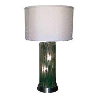 Vintage Lucite Bamboo Leaf Lamp
