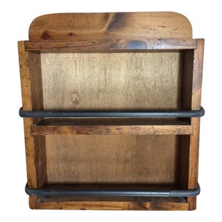 Vintage Wood & Iron Spice Cabinet