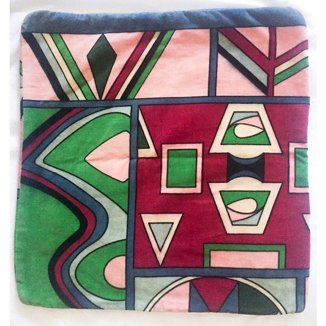 Vintage Pucci Style Velvet Throw Pillow Cover - Image 2 of 9