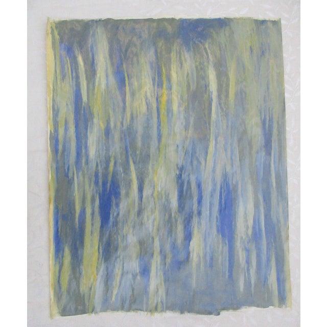 Alaina Blue Green Streak Painting - Image 2 of 10