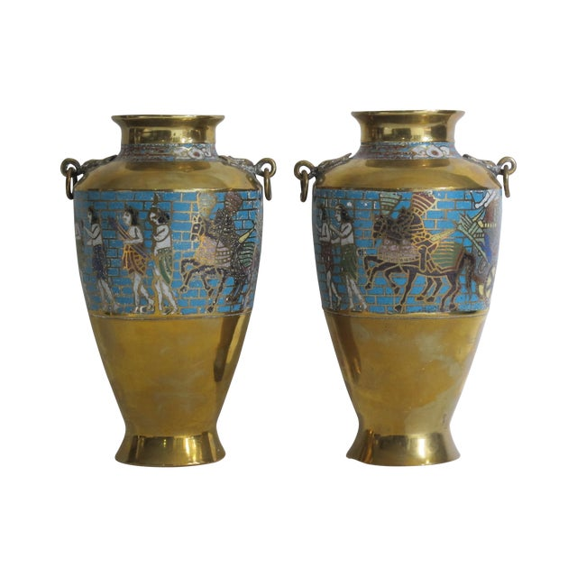 Egyptian Revival Urns - A Pair - Image 1 of 9