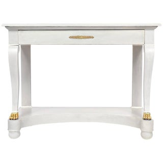 Antique Empire Style Painted Console Table