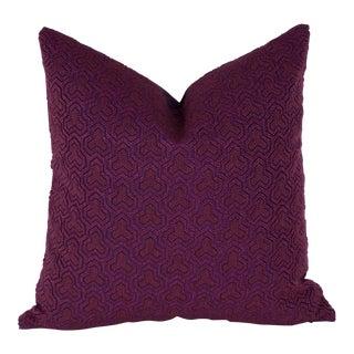 Magenta Hex Pillow Cover