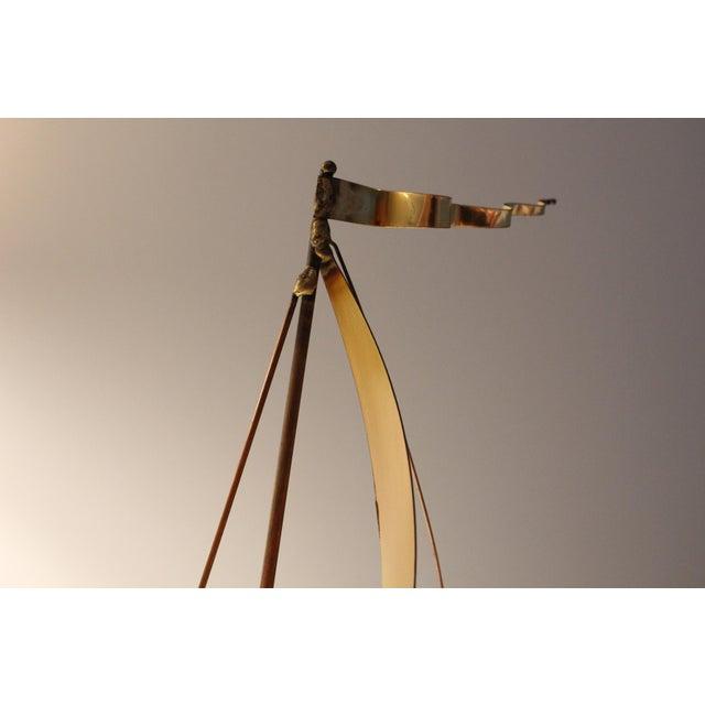 DeMott Mid-Century Brutalist Brass Sculpture - Image 4 of 5