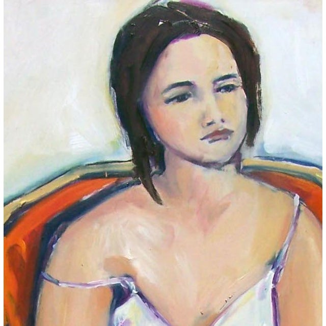 Woman in Orange Chair II by Heidi Lanino - Image 2 of 2