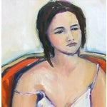Image of Woman in Orange Chair II by Heidi Lanino