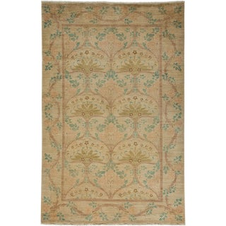 "Arts & Crafts Hand Knotted Area Rug - 5'1"" X 7'9"""