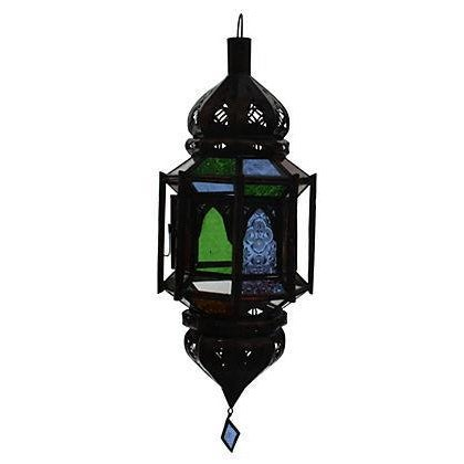 Hand-Crafted Moroccan Ceiling Lantern - Image 1 of 2