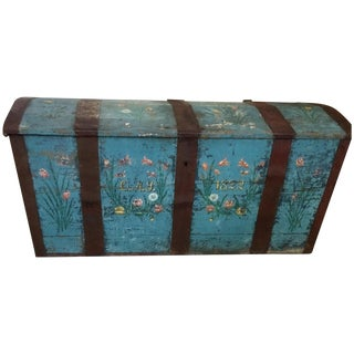 Antique Painted Chest 1822