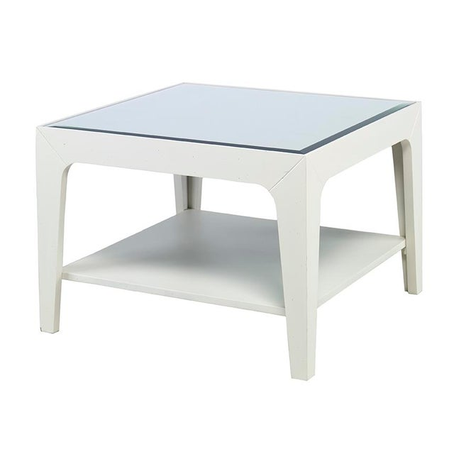 Kravet slim square side table chairish for Slim side table