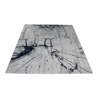 Blue Abstract Painting Rug - 5' x 8'