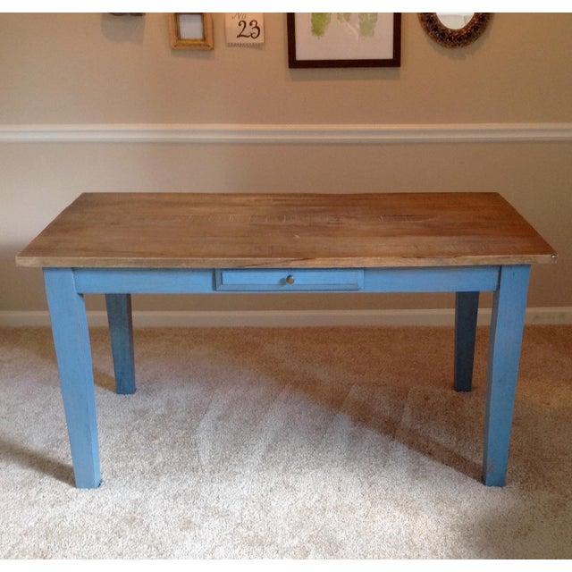 Blue Farmhouse Table - Image 2 of 8