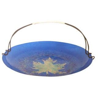 Mid-Century Blue Enamel Bowl