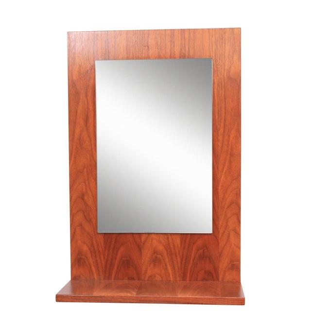 American Modern Walnut Mirror - Image 1 of 7