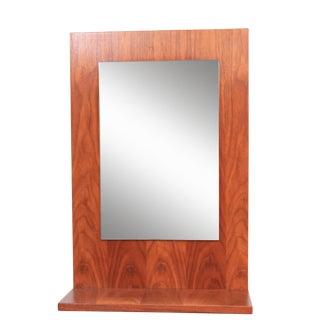 American Modern Walnut Mirror