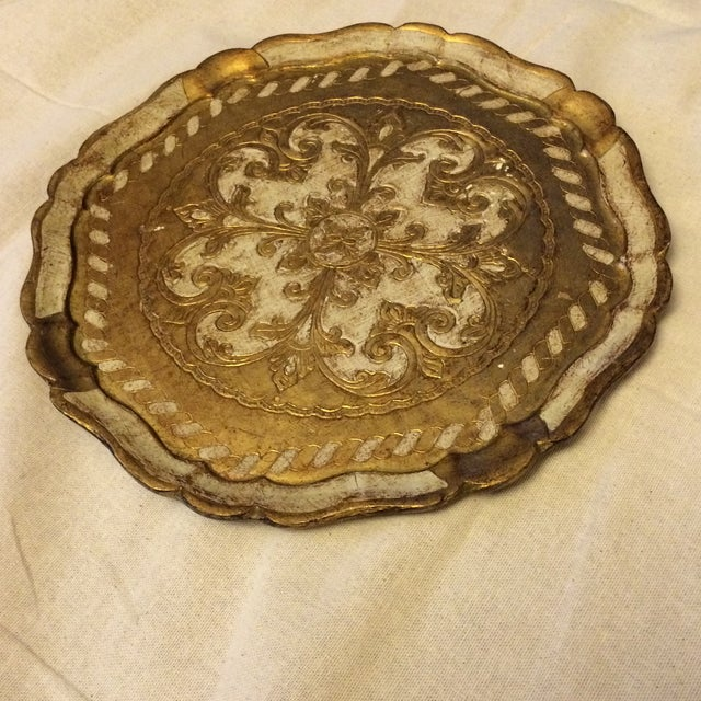 Florentine Gold & Cream Wooden Tray - Image 3 of 4