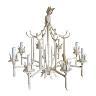 Faux Bamboo Pagoda Tole Chandelier