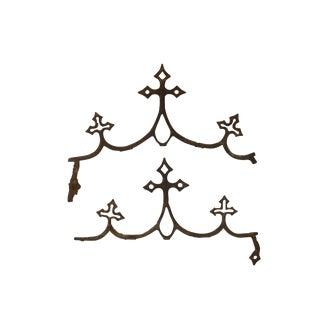 French Fleur de Lys Iron Elements, A Pair