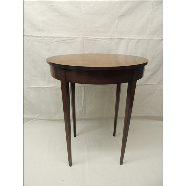Vintage oval tapered leg side table chairish
