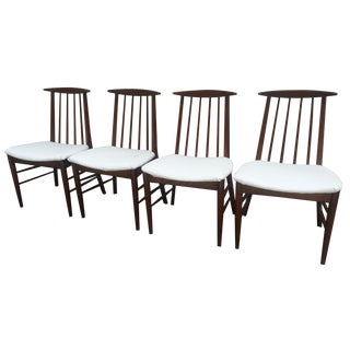 Mid-Century Oak Dining Chairs - Set of 4