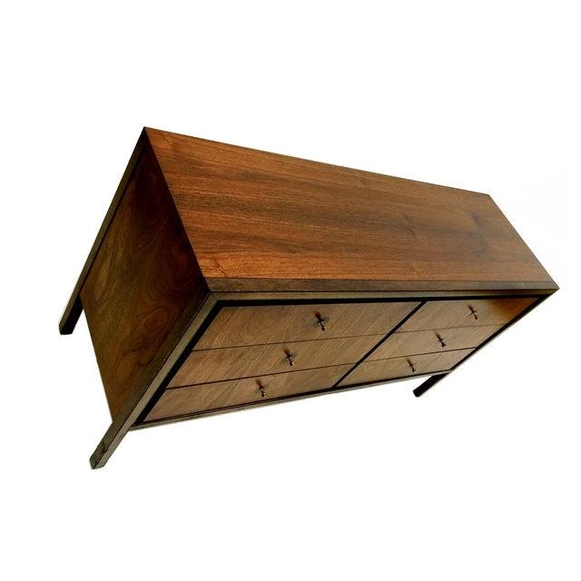 Mid Century Modern Walnut Six Drawer Dresser - Image 2 of 4