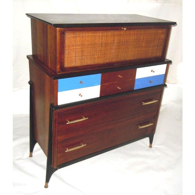 Mid-Century Modern Walnut & Painted Dresser - Image 3 of 8