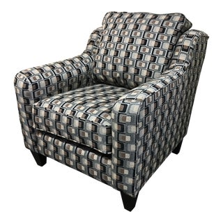 Mod Print Upholstered Armchair