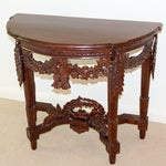 Image of Carved Rosewood Stained Thai Console Table