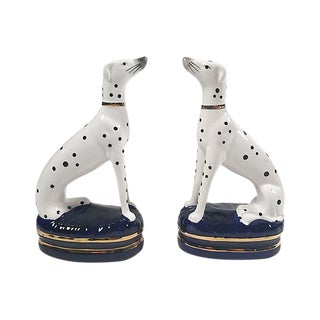 Staffordshire Style Dalmatian Figurines - A Pair