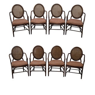 McGuire Oval Back Rattan & Cane Dining Chairs - 8