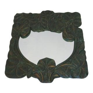 Vintage Lotus Leaf Mirror