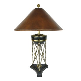 Maitland Smith Marble & Brass Eiffel Base Table Lamp