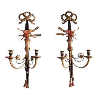Italian Eagle & Arrow Wall Sconces- A Pair
