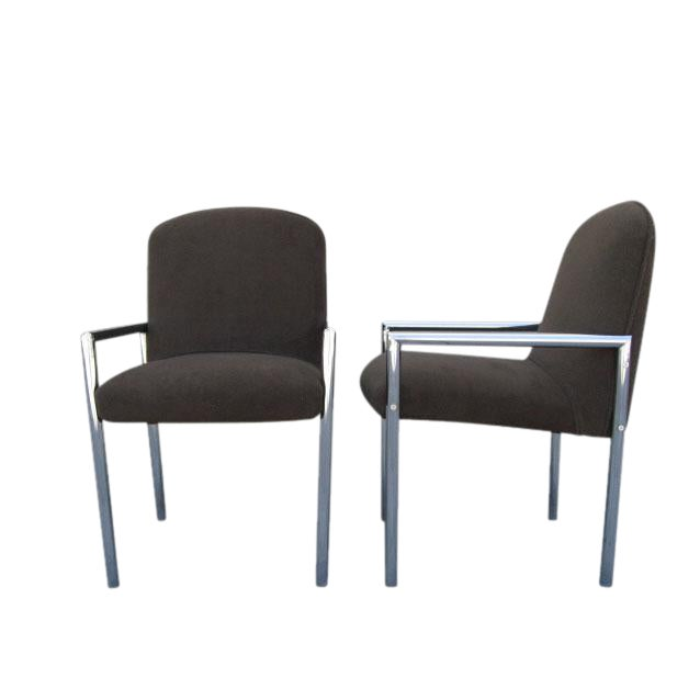 1970s Chrome Armchairs - Set Of 6 - Image 1 of 3