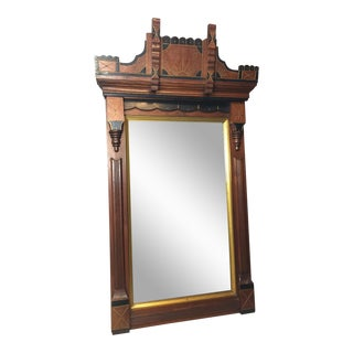 Antique Eastlake Heavy Carved Wall Mirror