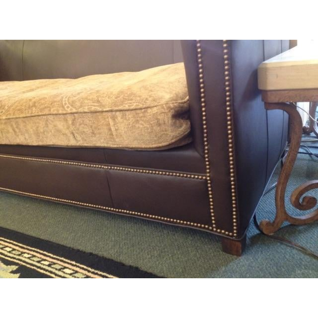 Leather Furniture Hickory North Carolina: Old Hickory Tannery Leather Sofa With Two Cushions